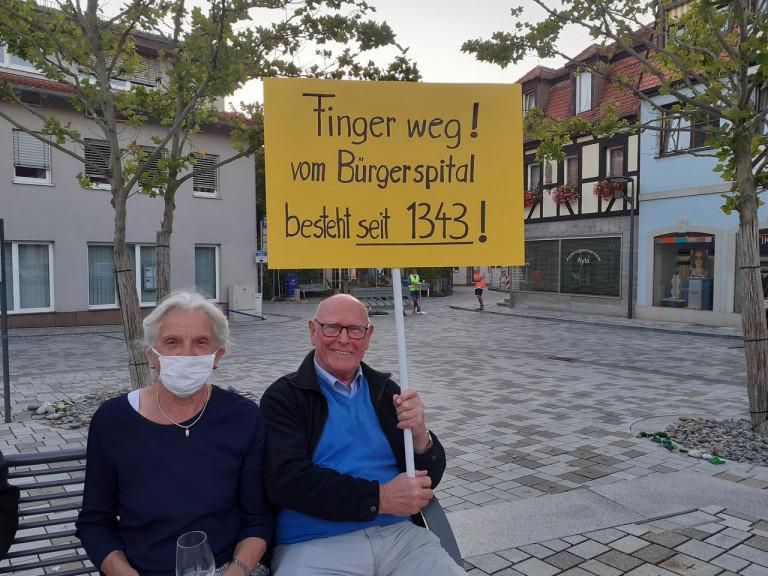 Kundgebung Bürgerspital – Plakat